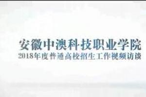 安徽中澳科技职业学院院长汪源浩2018年度普通高校招生工作视频访谈